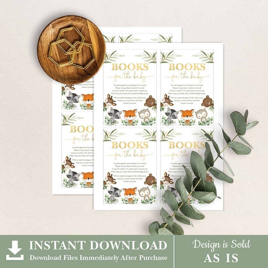 Woodland Baby Shower Book Request