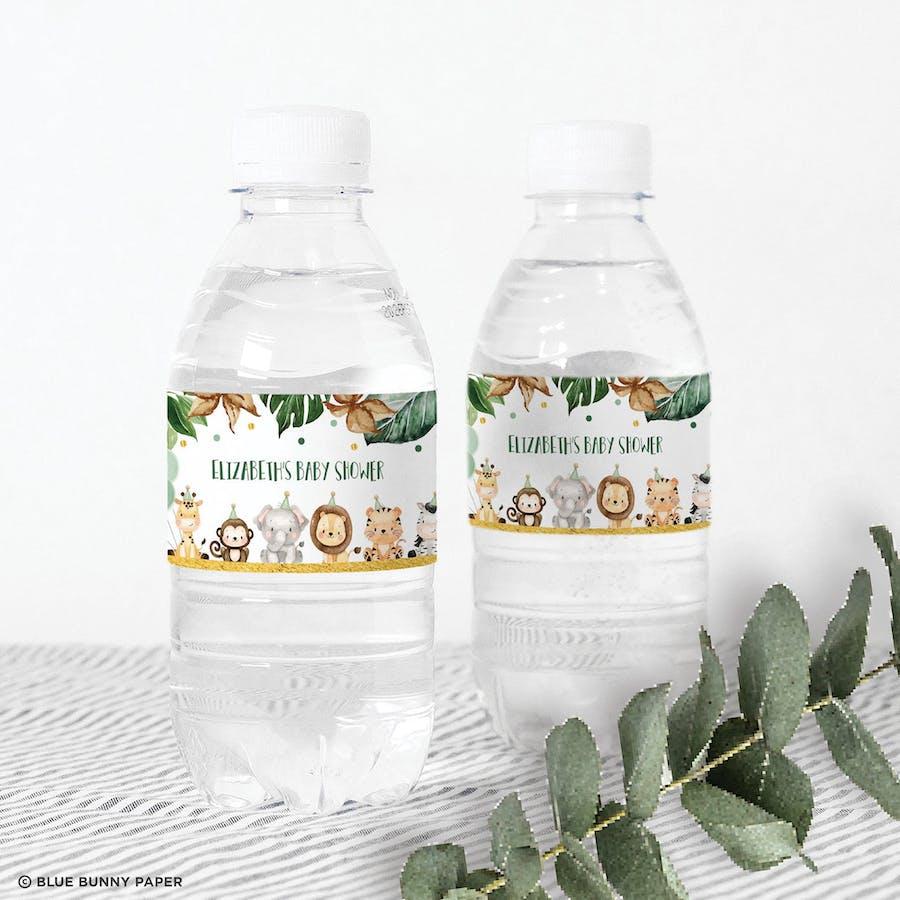 Jungle Animals Bottle Label
