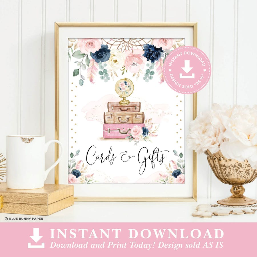 Boho Cards and Gifts Party Sign