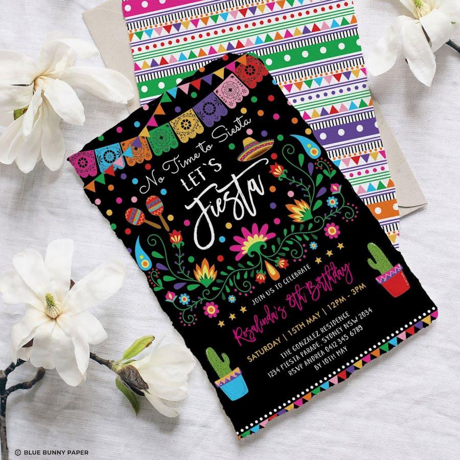 Mexican Fiesta Birthday Party Invite