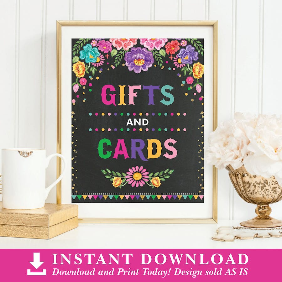 Mexican Fiesta Gifts & Cards Sign