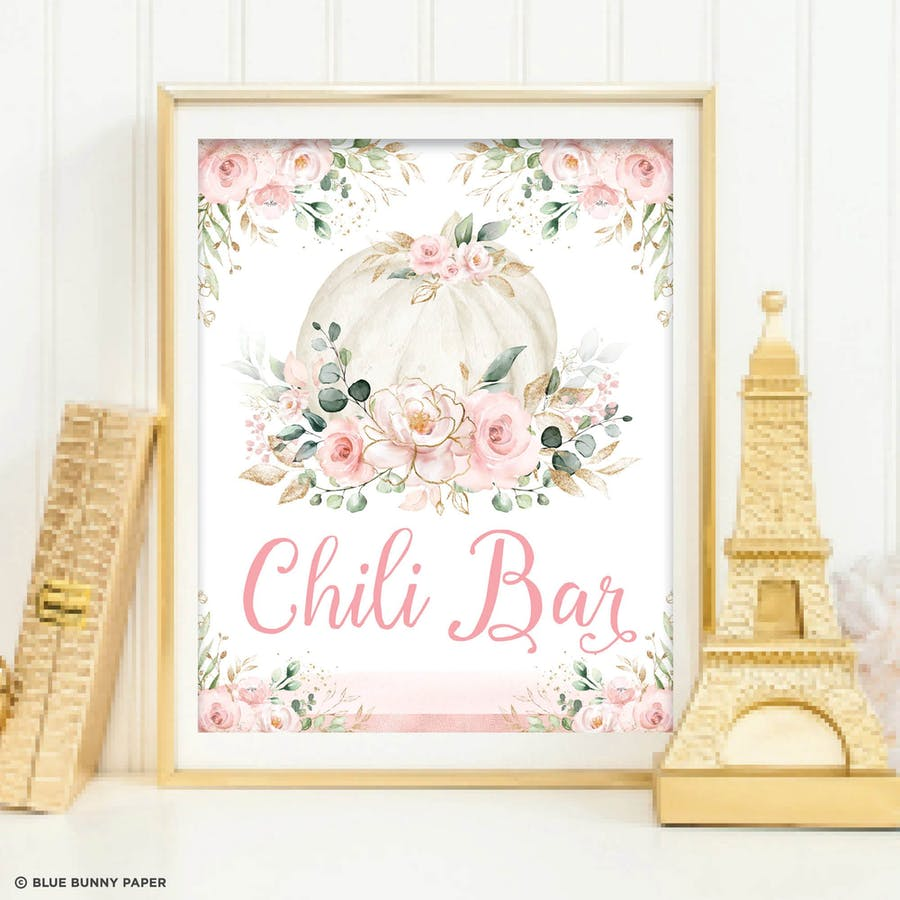 Chili Bar Party Sign