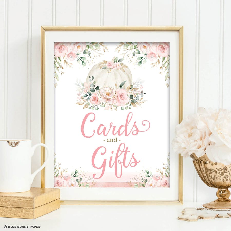Cards and Gifts Party Sign