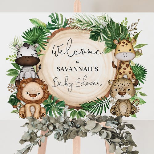 Party Welcome Backdrop Sign
