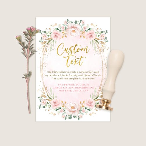 Custom Insert Card