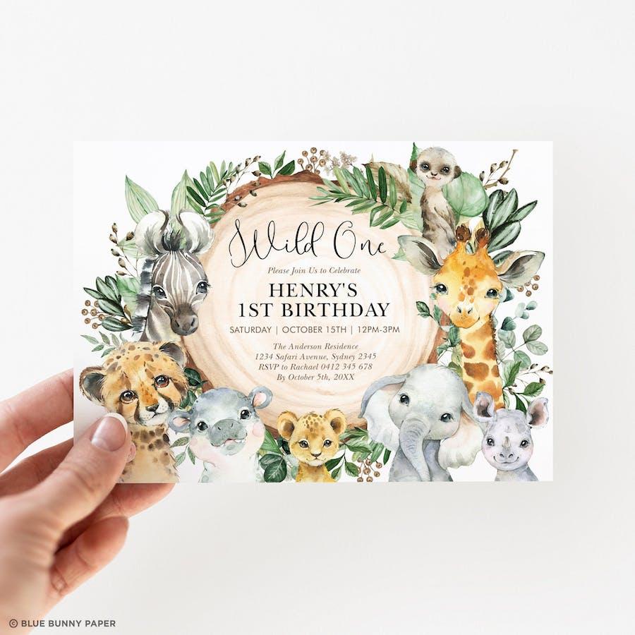 Wild One Birthday Party Invite