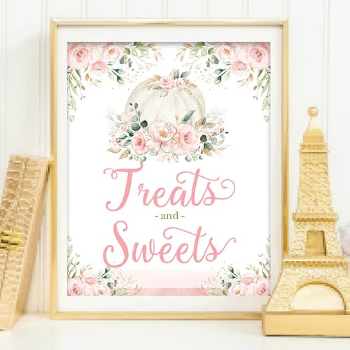 Treats and Sweets Party Sign