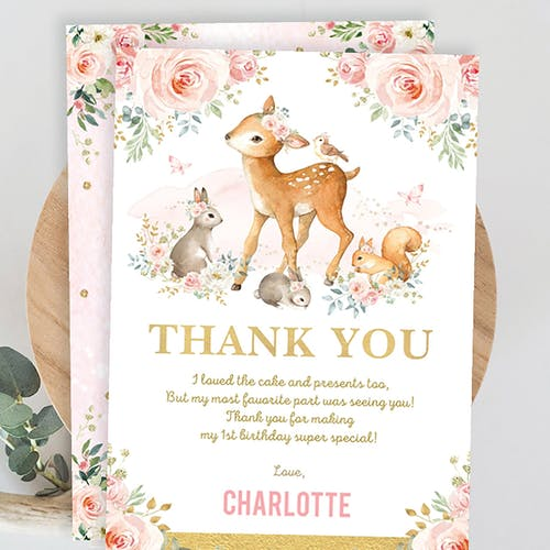 Party Thank You Card