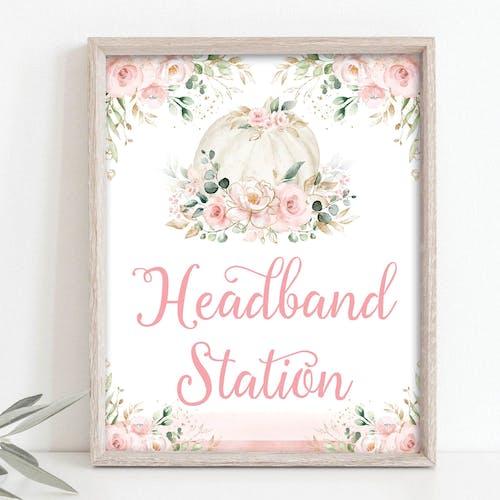 Headband Station Party Sign