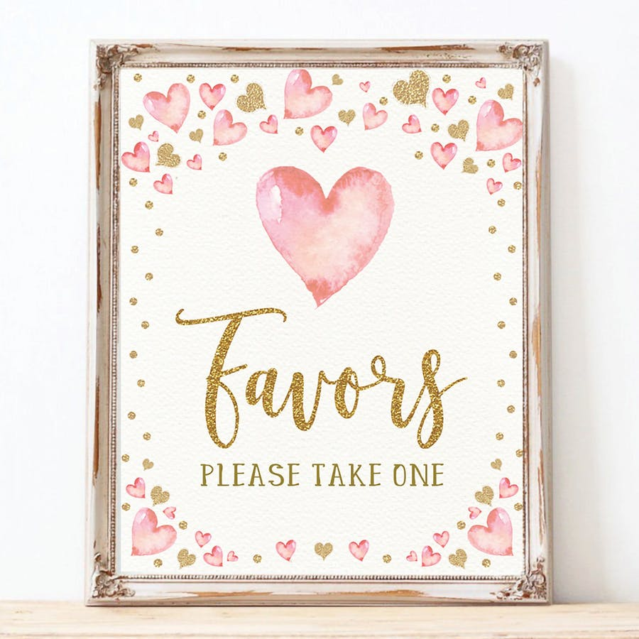 Valentines Favors Party Sign