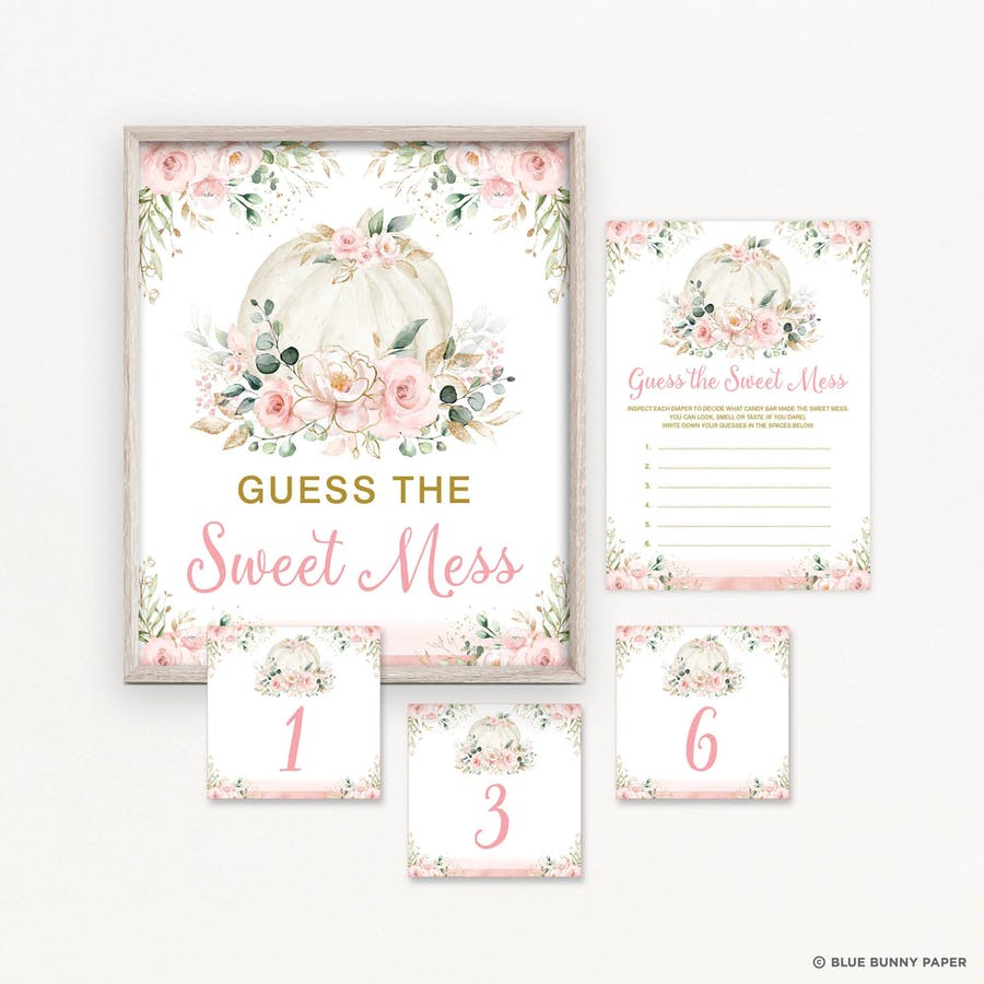 Guess the sweet Mess Baby Shower Game