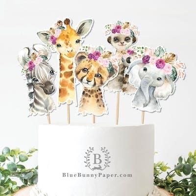 Jungle Animals Cupcake Topper