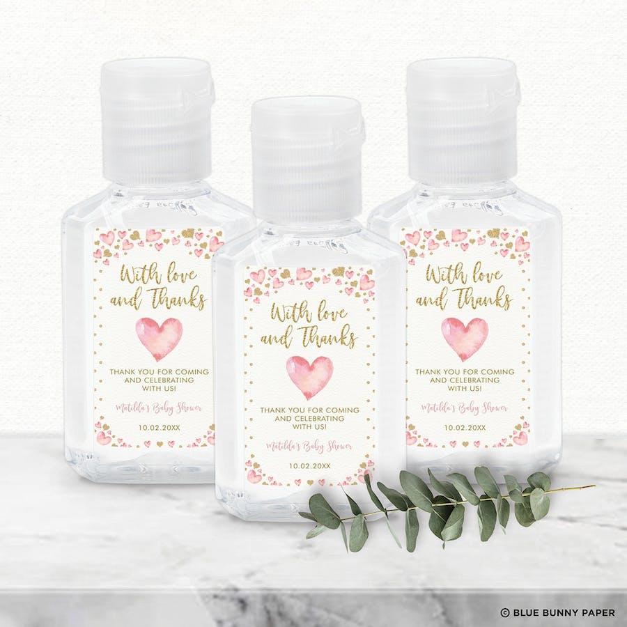 Valentines Hand Sanitizer Label