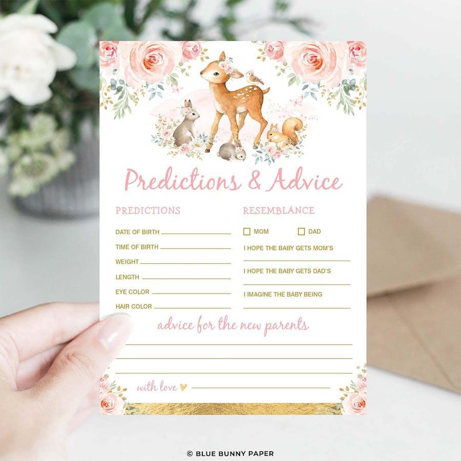 Girl Woodland Predictions & Advice Card