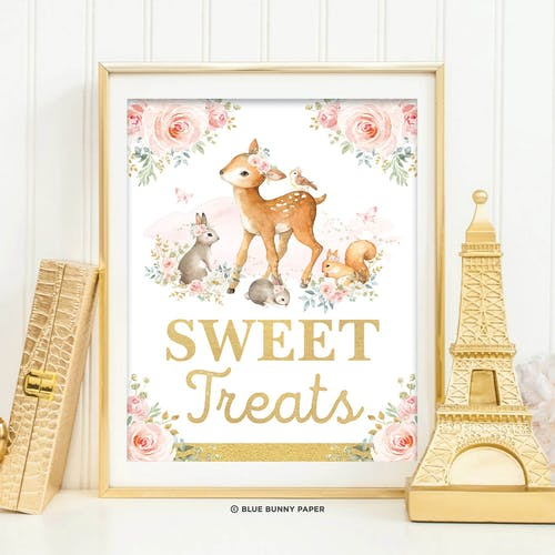 Printable Woodland Sweet Treats Party Sign