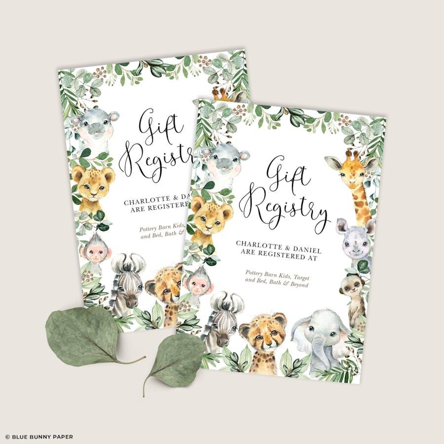 Gift Registry Insert Card