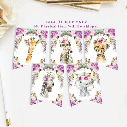 Jungle Animals Party Bunting