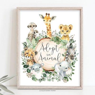Adopt an Animal Sign