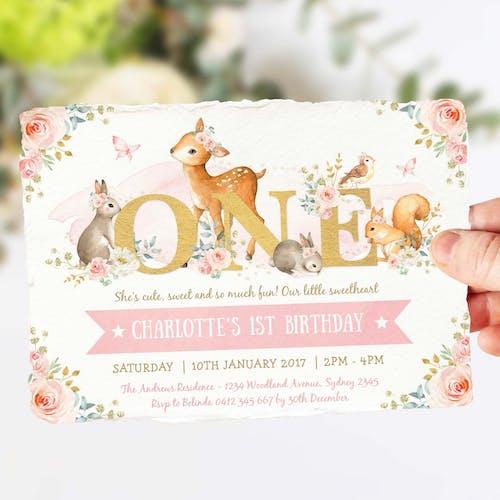 ONE - Birthday Invitation