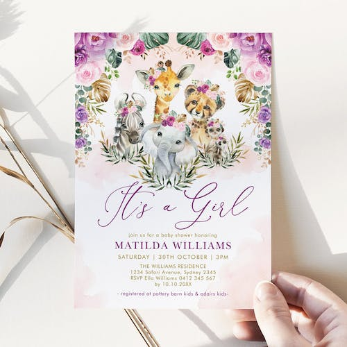 It's a Girl Baby Shower Invite