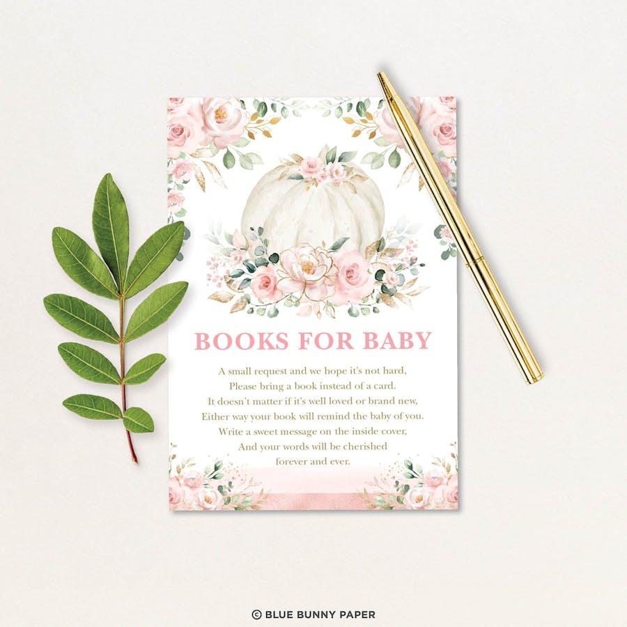 Printable Pumpkin Books for Baby Insert Card
