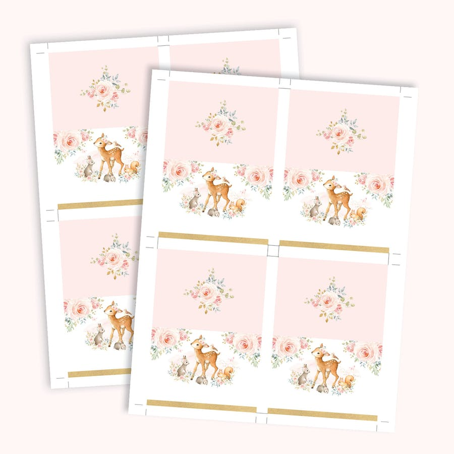Girl Woodland Table Place Cards