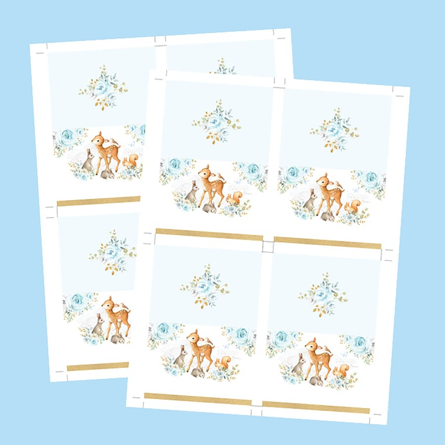 Boy Woodland Table Place Cards