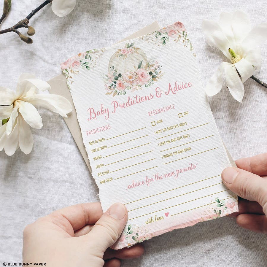 Baby Shower Predictions & Advice Game
