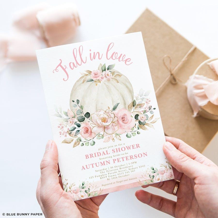 Printable Pumpkin Bridal Shower Invitation