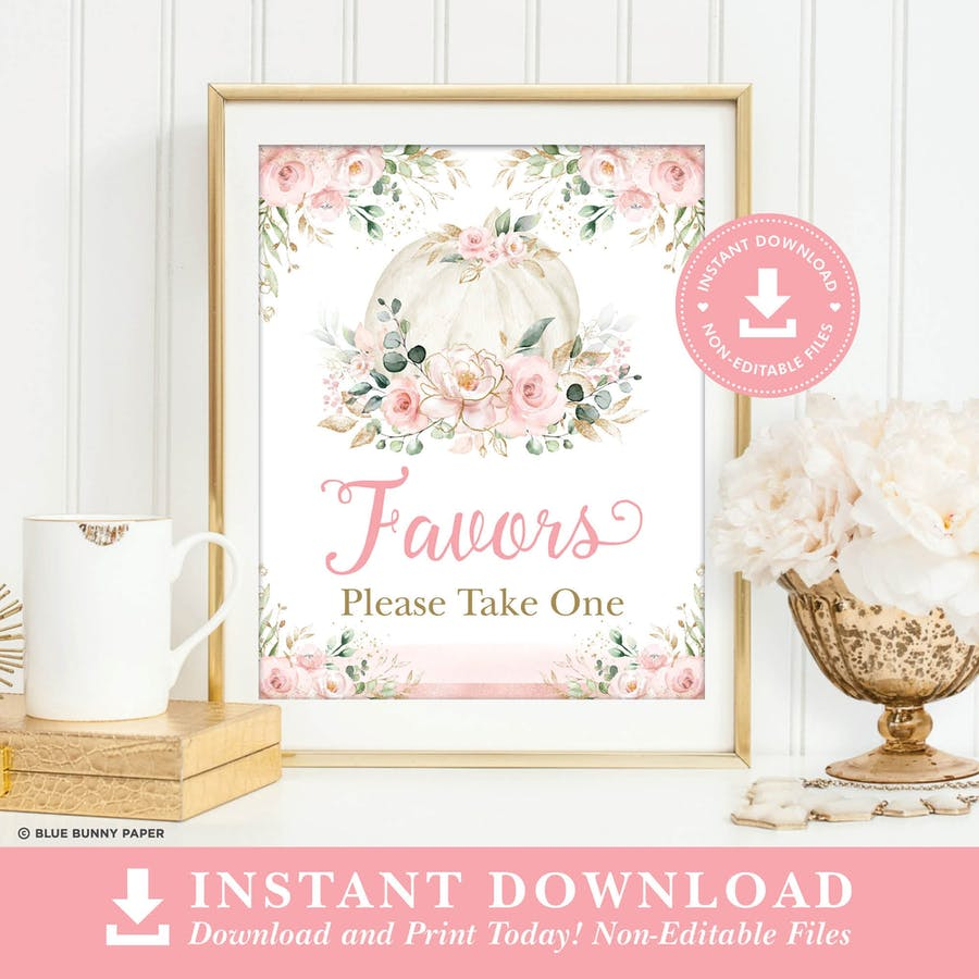 Favors Party Sign
