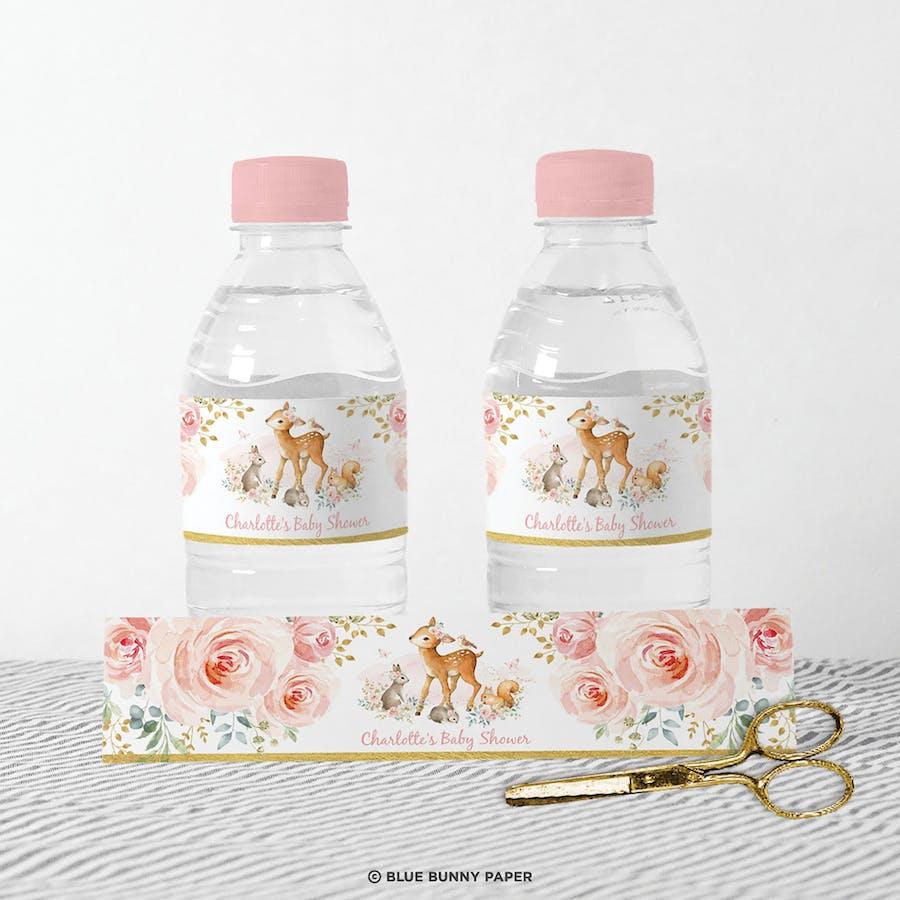 Girl Woodland Water Bottle Labels